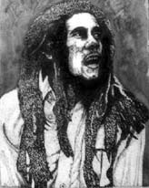 Bob Marley stiple and ink wash