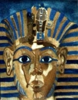 King Tutankhamun watercolorr