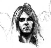David Gilmour sketch pencil