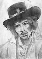 Jimi Hendrix sketch pencil