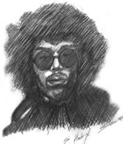 Jimi Hendrix loose sketch