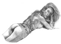 Lingerie Nude sketch pencil
